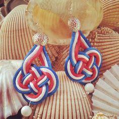 orecchini a nodo - creazioni handmade