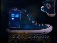Light up TARDIS Converse!! Doctor Who Shoes! Wondering how much these cost lol