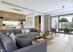 DOBRY 3 - salon - zdjęcie od DOMY Z WIZJĄ - nowoczesne projekty domów - Salon - Styl Nowoczesny - DOMY Z WIZJĄ - nowoczesne projekty domów