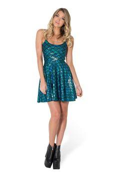 Merboy Straps Skater Dress - LIMITED › Black Milk Clothing mermaid dress fancy dress