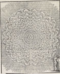 """mythologyofblue: """"Alessandro Vellutello, Nine circles of the angelic hierarchies, 1544 """" Catholic Art, Religious Art, Order Of Angels, Angel Hierarchy, Masonic Symbols, Drawing Journal, Heaven And Hell, Space Images, Human Soul"""