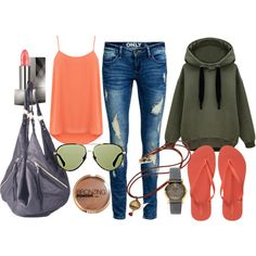 Short Trek by ellary-branden on Polyvore featuring Oasis, ONLY, Old Navy, Mary + Marie, Gucci, The Row, Burberry and H&M