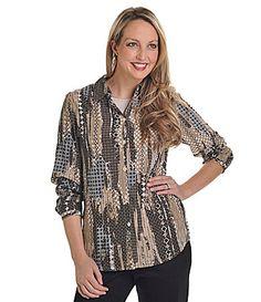 Allison Daley II Printed Blouse #Dillards