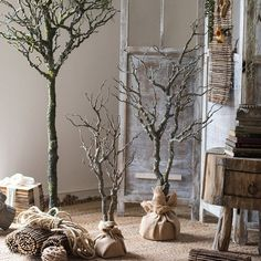 Your place to buy and sell all things handmade, Artificial plants artificial dry tree Tree Branch Decor, Tree Branches, Potted Trees, Trees To Plant, Metal Hanging Planters, Manzanita Tree, Christmas Crafts, Christmas Decorations, Beach Christmas