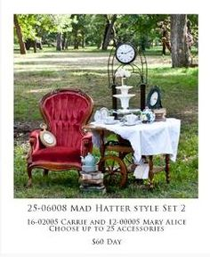 Mary Ann and she has a twin sister Mary Alice. Chairs For Rent, Outdoor Furniture Sets, Outdoor Decor, Alice In Wonderland, Twin, Mad, Marriage, Home Decor, Style
