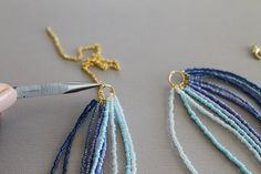 How to make a simple seed bead necklace.  Adding findings.  #Beading #Jewelry #Tutorials                                                                                                                                                                                 More