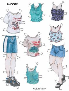 Paper Doll Garden - Ippy & A.J. 20* For lots of free paper dolls International Paper Doll Society #ArielleGabriel #ArtrA thanks to Pinterest paper doll collectors for sharing *