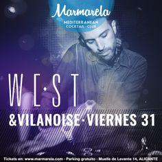 Esta noche se viene junto a VILANOISE a la #FridayNight  WEST directo desde Valencia para que pasemos una noche de lo mas veraniega mientras él se encarga de levantarla!