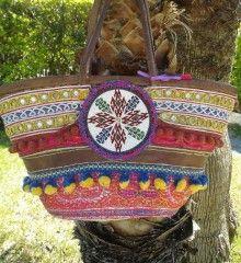 Cesto étnico Estilo Boho, Captain Hat, Handbags, Hats, Fashion, Hampers, Hippie Purse, Latest Fashion Trends, Hippies