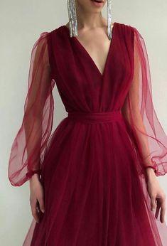 Prom Dresses Long With Sleeves, Simple Dresses, Elegant Dresses, Formal Dresses, Beautiful Prom Dresses, Pretty Dresses, Beautiful Outfits, Classy Dress, Dream Dress
