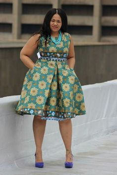 Beautiful Ankara Styles for the Plus size Ladies Short African Dresses, African Fashion Skirts, African Print Dresses, African Print Fashion, African Wear, African Attire, African Prints, African Patterns, African Clothes