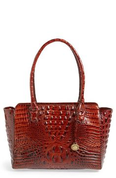 $245 Brahmin 'Ashby' Croc Embossed Leather Tote (Nordstrom Exclusive) available at #Nordstrom