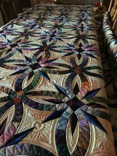 Bali Wedding Star quilt with custom motif - The Sun, The Moon and The Stars