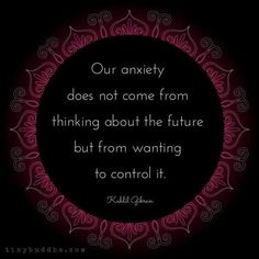 Anxiety and future