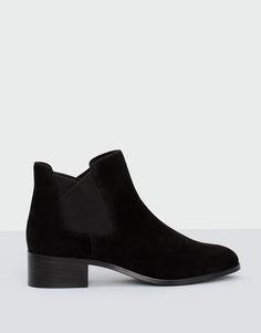 Botim elástico preto - Botas e botins - Sapatos - Mulher - PULL&BEAR Portugal