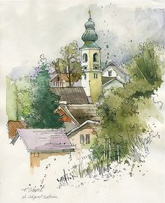 St. Gilgen | An old painting which I found between my papers… | Flickr