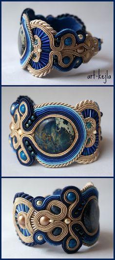 "Soutache bracelet by Art Kejla (2012). ""Collection Affari""."