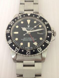 時計 中古ROLEXロレックス1675GMTマスターアンティークレア品 Watch rolex ¥730000yen 〆03月30日
