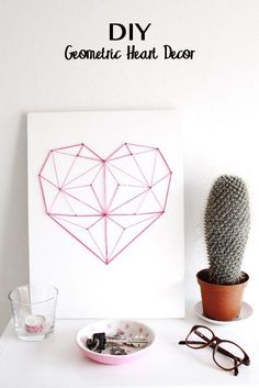 DIY Geometric String (he)art - Decoro Geometrico