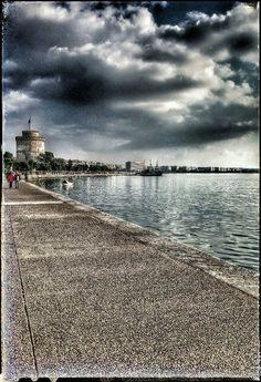 White Tower, Thessaloniki Greek Beauty, Thessaloniki, Daydream, Railroad Tracks, Iphone Wallpaper, Tower, Macedonia, Beach, Collections