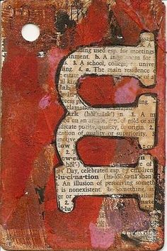 Playing card journal: once a week, decorate a playing card about what's going on in your life: 52 cards, 52 weeks. Art Journaling, Art Journal Pages, Mixed Media Collage, Collage Art, Altered Books, Altered Art, Art Doodle, Art Projects, Projects To Try