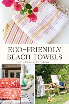 Splash into summer with these ethically-made and eco-friendly beach towels and blankets perfect for picnicking and lounging by the pool or sea. There's really nothing quite like a vibrant oversized towel or bright blanket to instantly put you into vacation mode.  Sustainable Beach Towels | Organic Beach Towels | Eco-Friendly Picnic Blankets | #ConsciousStyle Recycled Blankets, Turkish Cotton Towels, Responsible Travel, Mediterranean Style, Beach Towel, Summer Fun, Picnic Blanket, Eco Friendly, Vibrant