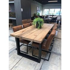 60 dining room table decorating ideas you want 35 Dining Room Table Decor, Wooden Dining Tables, Outdoor Tables, Modern Rustic Dining Table, Patio Dining, Industrial Dining, Farmhouse Table, Home Furnishings, Home Furniture
