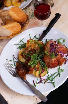 Cochon A L'Oreille Restaurant, Paris  Jarret de Porc Confit at Cochon A L'Oreille Restaurant - Paris,
