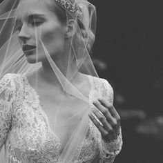 One of my favourite black & white bridal image ever! Photo by Petra Veikkola.  Check out @hochzeitsguide! Beautiful feature of our styled bridal shoot at #kuusistonlinnanrauniot!  Many thanks to the super creative team: #bridalgown, styling + props: @pukuni  #hairadornments + sty