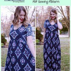 Boho Babydoll - Patterns for Pirates Pdf Sewing Patterns, Dress Patterns, Patterns For Pirates, Curve Tops, Curve Dresses, Boho Dress, Bohemian Style, Baby Dolls, Short Sleeve Dresses