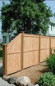 Backyard Fences Ideas reclaim your backyard with a privacy fence We Could Do This Step Down On The Fence If We Want This Variation