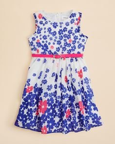 Little Angels by US Angels Girls' Belted Floral Dress - Sizes 2-6x | Bloomingdale's
