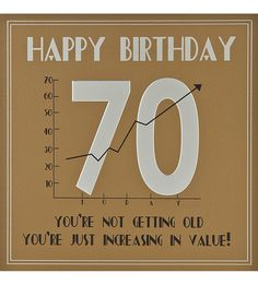 Funny 70th Birthday Card Age 70