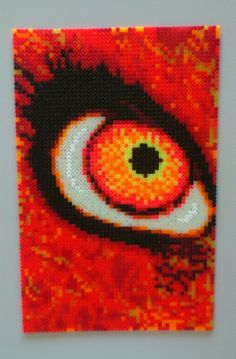 HAMA Beads - Orange Eye