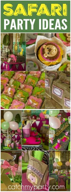 What a fun girly safari party held at a nature reserve! See more party ideas at CatchMyParty.com!