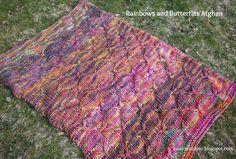 Rainbows & Butterflies Afgan - Malabrigo Rasta