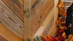 Build a Fireplace Insert Draft Stopper {a Lowe's Creator Idea} (Pretty Handy Girl) Wood Fireplace Inserts, Reclaimed Wood Fireplace, Build A Fireplace, Fireplace Cover, Draft Stopper, Hope Chest, Lowes, Entryway Tables, The Creator