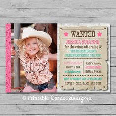 Horse birthday invitations photo rustic lace riding picture jpeg cowgirl birthday invitation cowgirl birthday wanted poster invitation pink cowgirl invitation rustic invitation diy custom printable filmwisefo Images