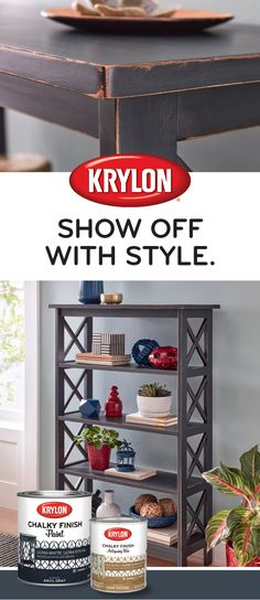 Make a special space for your favorite things with Krylon® Chalky Finish. Spray Paint Crafts, Spray Paint Projects, Bookshelf Design, Bookshelf Ideas, Building A Container Home, Wooden Pallet Projects, Home Organization Hacks, Paint Colors For Home, Burnt Orange Decor