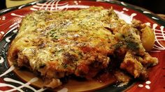 Pizza Burger Casserole.  8oz. ground beef, 4 eggs + 2 egg whites,  1 ¾c shredded zucchini, 1c WF Marinara Sauce, ½c chopped bell peppers, ½c sliced mushrooms, onion powder, garlic powder, salt & pepper, to taste.  Preheat oven to 400. Cook ground beef and season. Add bell peppers & mushrooms. Whisk eggs & set aside. Get the moisture out of the zucchini and add to egg mixture. Put entire mixture in a 9x9 baking dish. Alternate ground beef, spaghetti sauce and egg mixture. Bake about 25min.