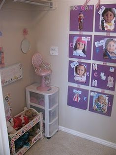 Converting a closet into an American Girl room