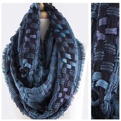"B154 Lattice Weave Teal Blue Green Infinity Scarf ‼️PRICE FIRM‼️   Retail $67    ABSOLUTELY SPECTACULAR!!!!  100% acrylic.  Super soft fabric & stunning color!  This scarf is so soft you will never want to take it off.  Dress up any outfit day or night. Lots and lots of stretch for a perfect look and comfort!  Please check my closet for many more scarves and clothing items.  Length 34""  Width 19"" Boutique Accessories Scarves & Wraps"