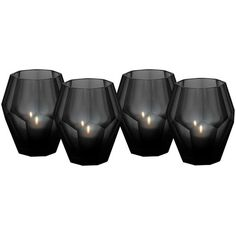 Eichholtz Okhto Black Tea Light Holders - Set Of 4 ($150) ❤ liked on Polyvore featuring home, home decor, candles & candleholders, fillers, candles, decor, black, backgrounds, black candles and black tealight holder