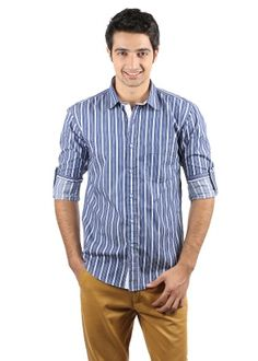 Monteil & Munero Men's Casual Shirt - Blue - Rs.819