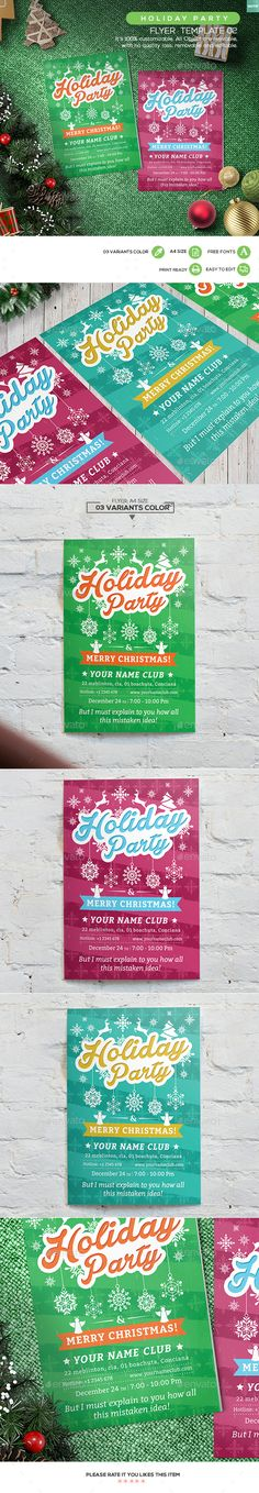 Christmas Party - Flyer Party flyer - holiday party flyer template