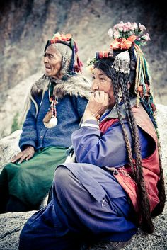 Brogpa women. The Brogpa are a small community of Dard people residing in the Dha-Hanu valley about 163 km southwest of Leh in Ladakh, India. They are thought by some to be the purest descendants of the ancient Indo-Europeans.