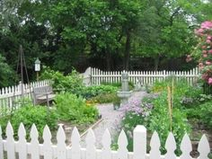 The proverbally White Picket Fence!