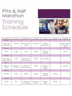 PiYo and Half Marathon Training Schedule - Running