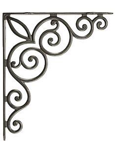 "Decorative Vines Cast Iron Shelf Bracket - 10 1/8"" x 11 3/4"" | House of Antique Hardware"