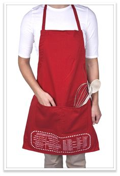 Pretty sure I need this!! Cheat Sheet Apron! It has upside down measurement conversions so it takes out the guess work =)